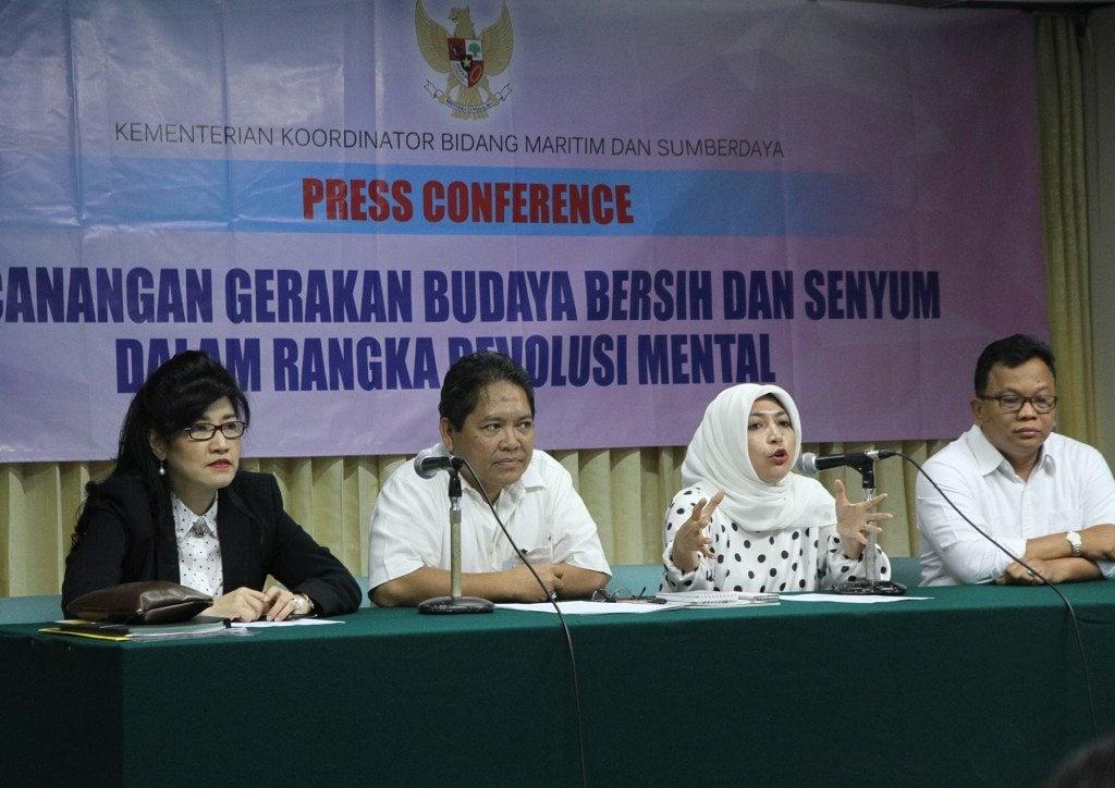 """Konferensi Pers """"Gerakan Budaya Bersih dan Senyum"""""""