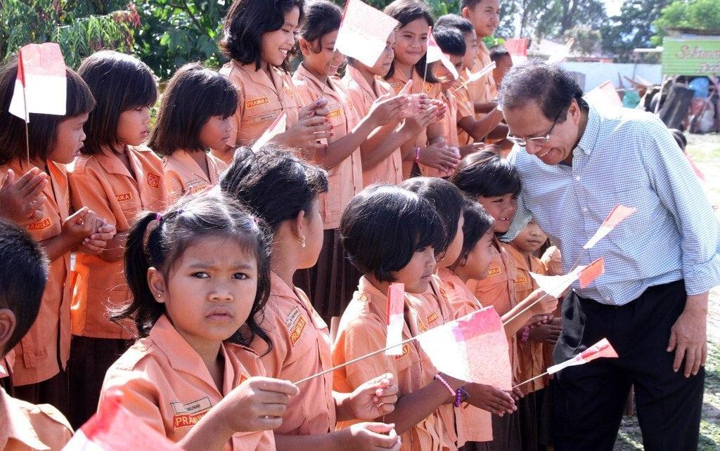 Lepas Bibit Ikan, Rizal disambut Pelajar Toba Samosir