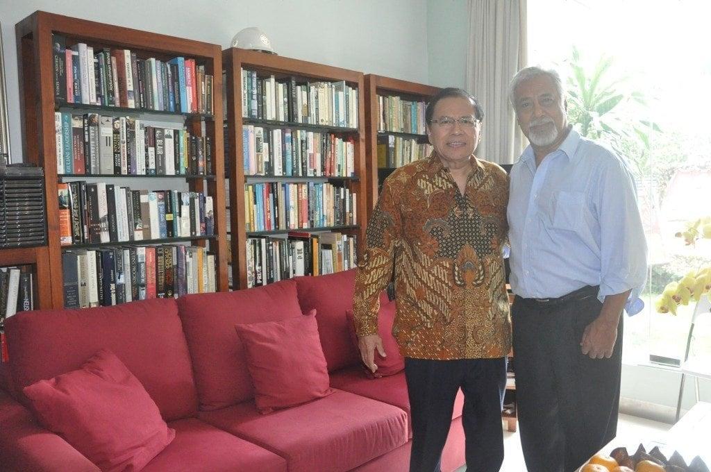 Pertemuan Menko Rizal dengan Xanana Gusmao