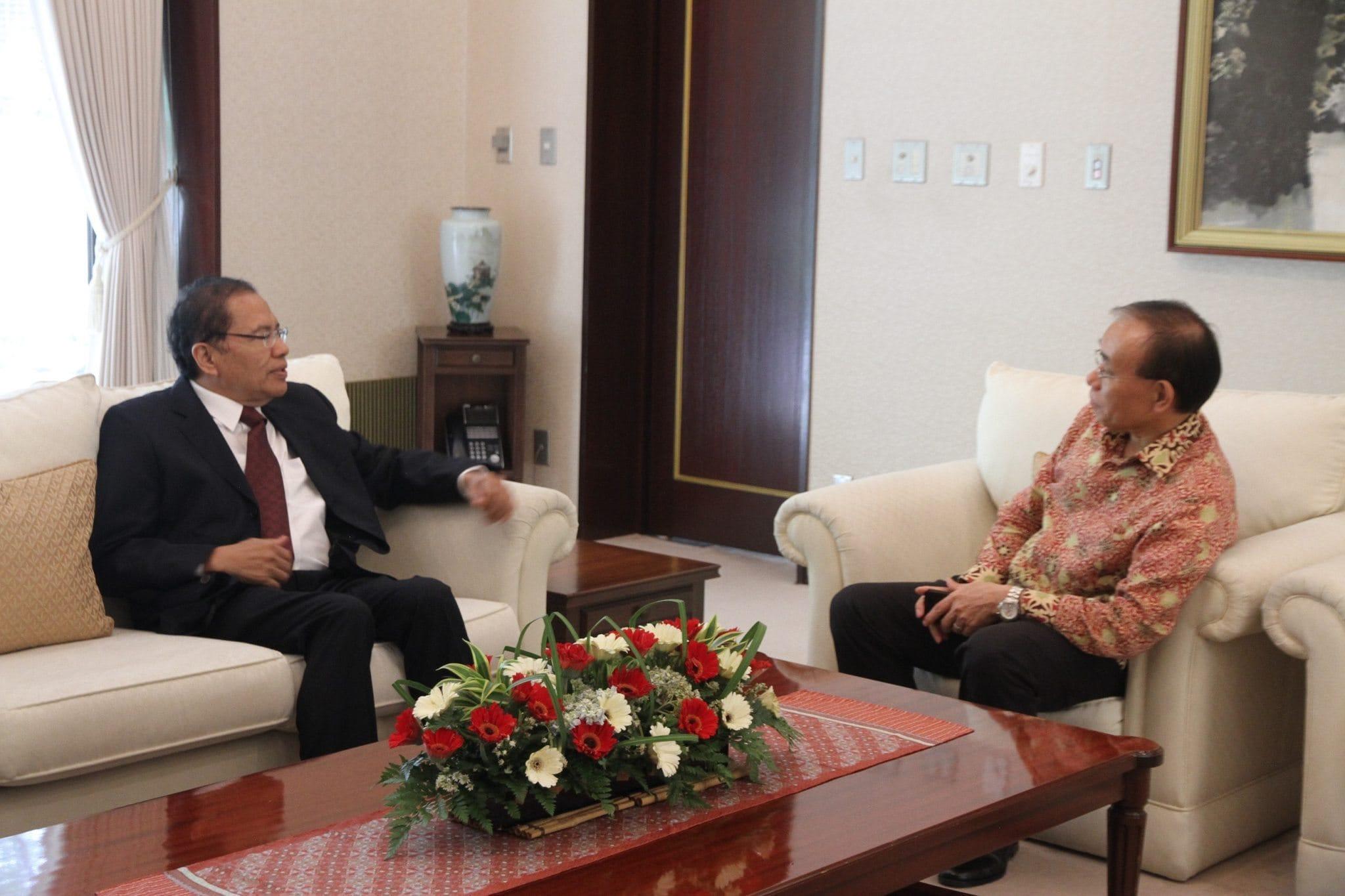 Pertemuan Bilateral Menko Rizal dengan Dubes Jepang