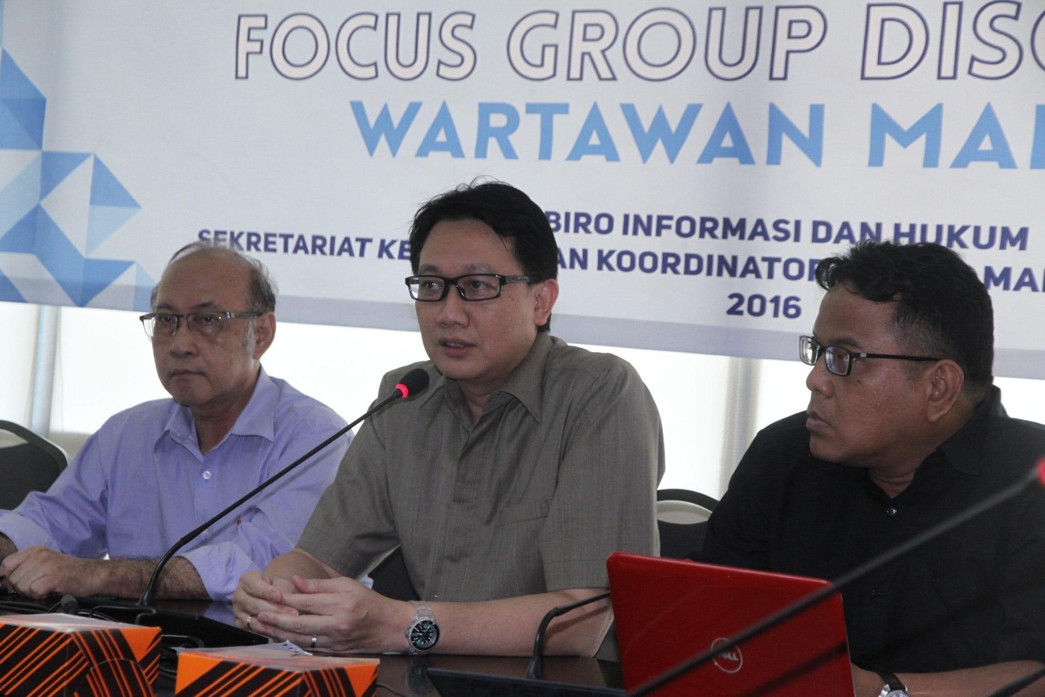 Diskusi Wartawan tentang Kebijakan Kemenko Maritim dan Sumber Daya