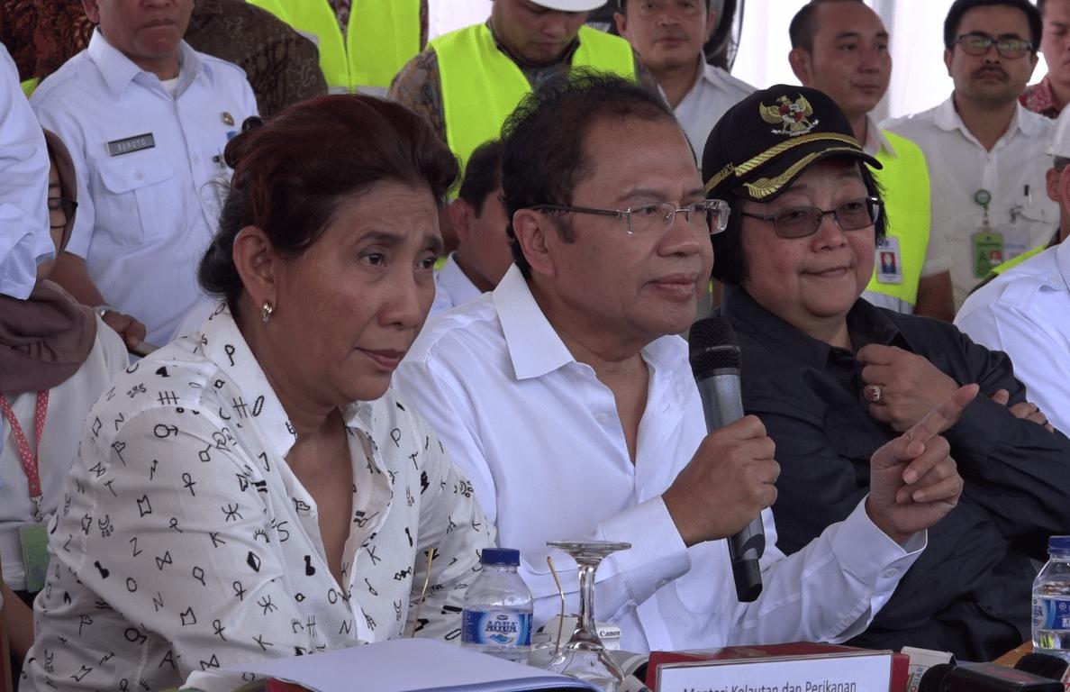 3 Menteri dan Gubernur Datangi Pulau Reklamasi