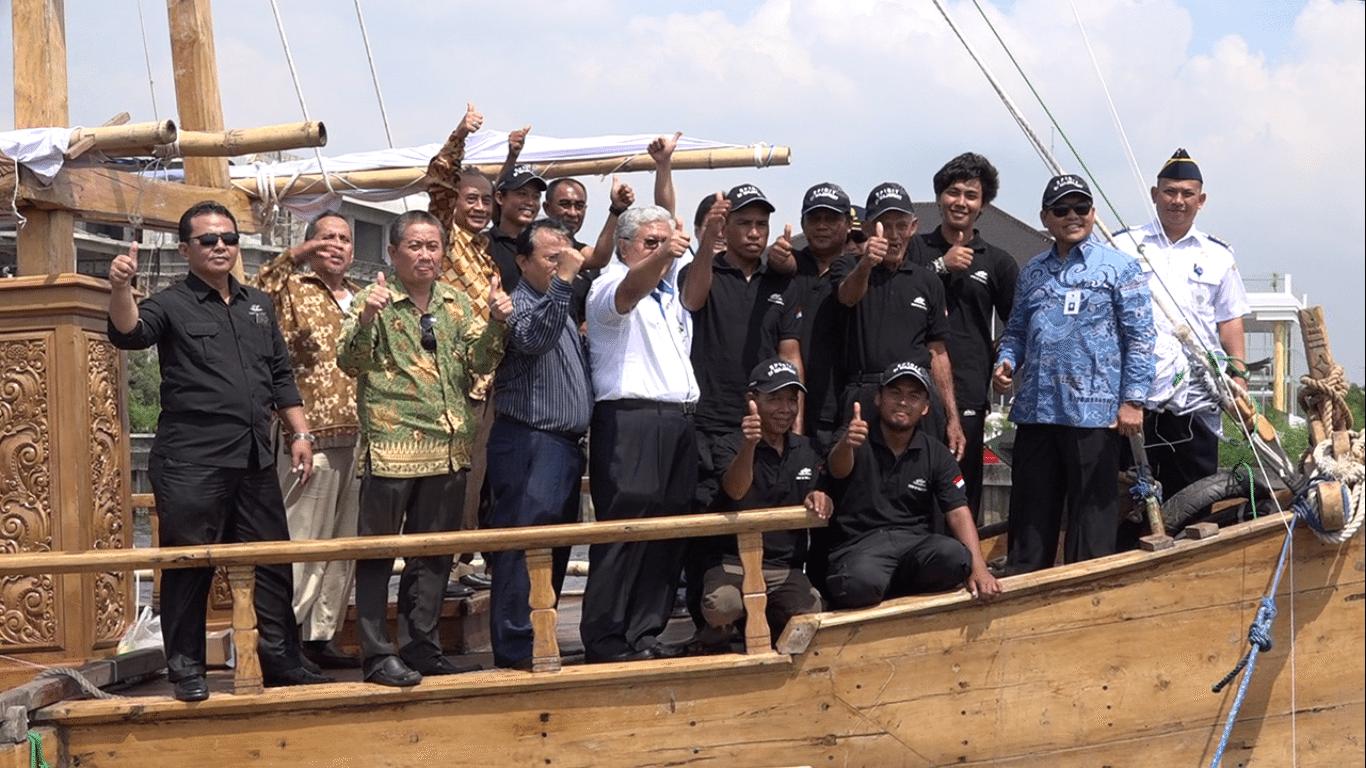 Kemenko Maritim & Sumber Daya Lepas Ekspedisi 'Spirit of Majapahit'
