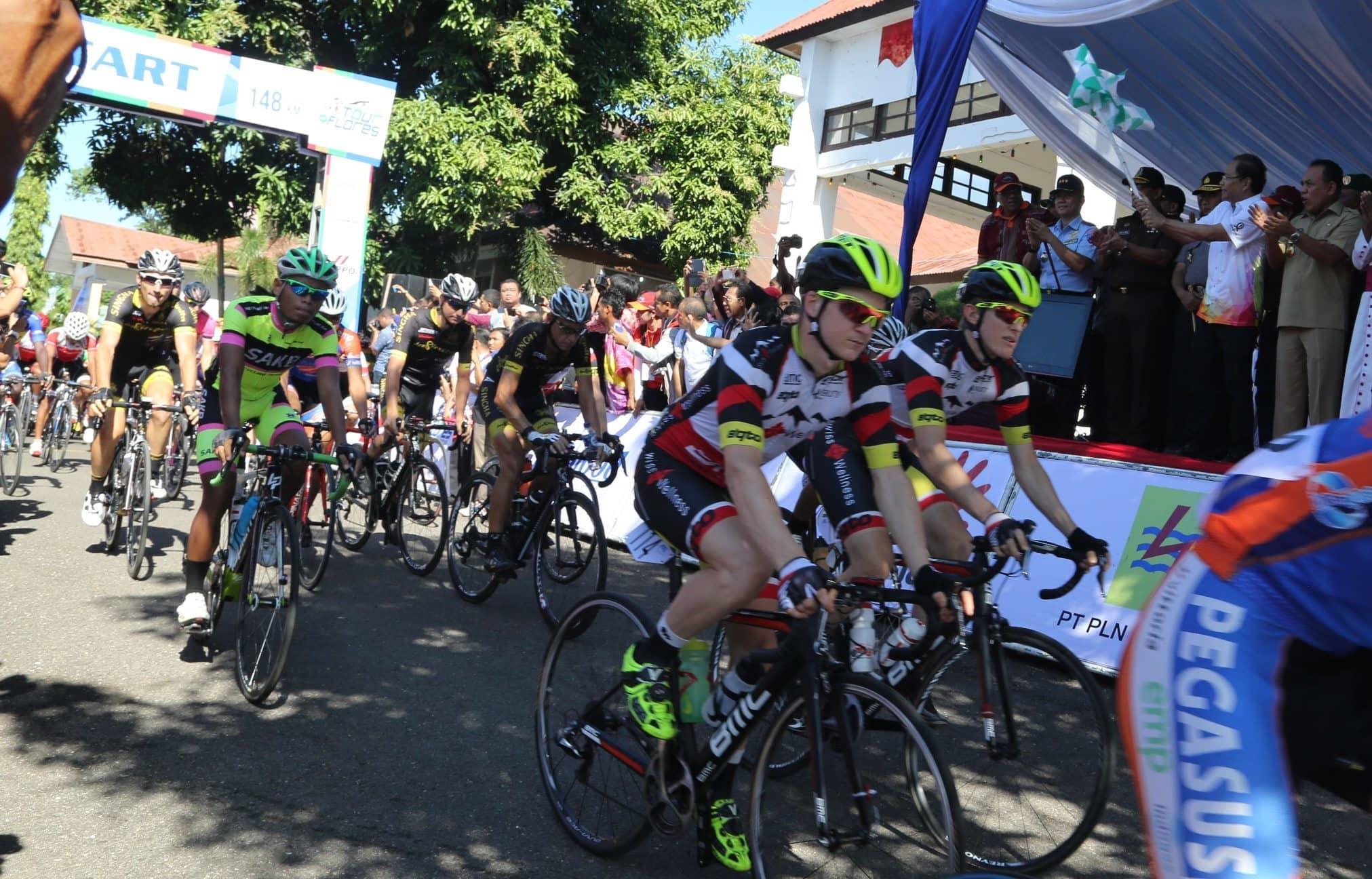 Pebalap Selandia Baru Menangi 'Tour de Flores', 22 Pembalap Drop