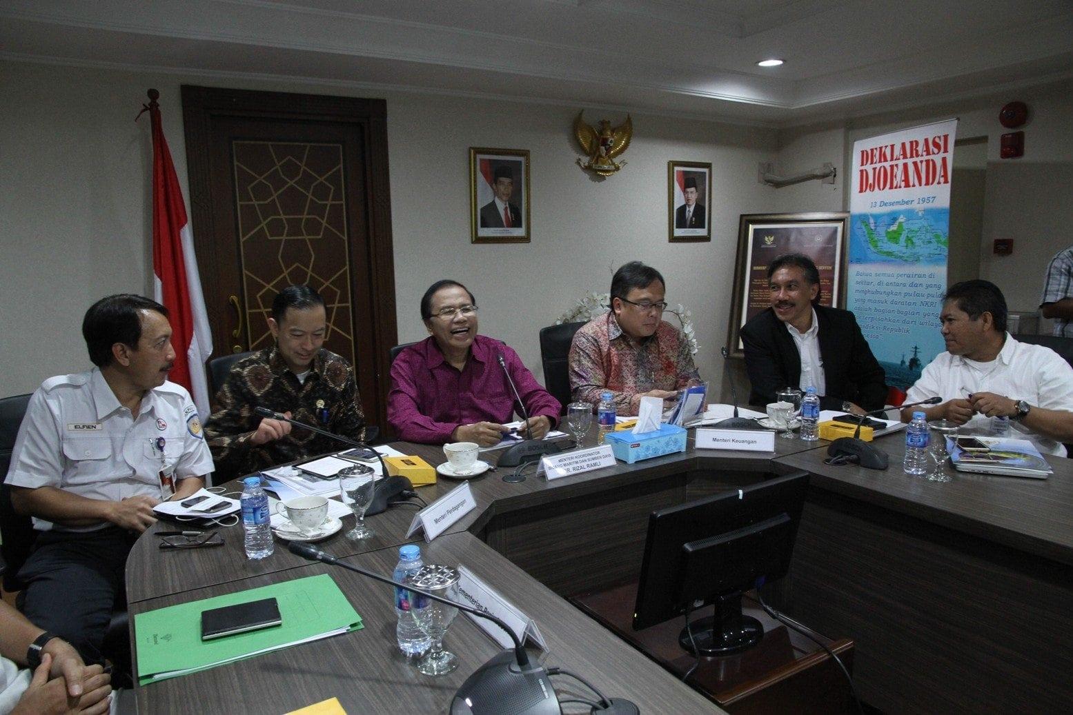 Rizal Ramli Pimpin Rapat Koordinasi Perkembangan Tol Laut