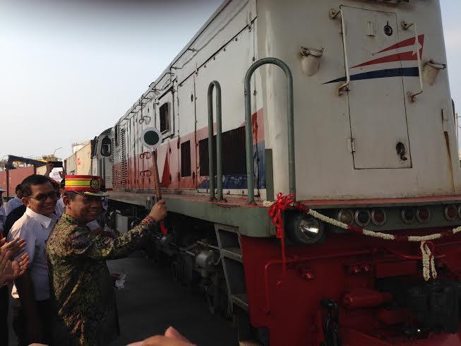 Deputi Agung Kuswandono Resmikan Kereta Api Pelabuhan Tanjung Priok