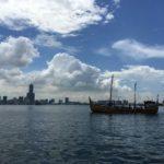 Kapal Spirit of Majapahit Sampai di Taiwan