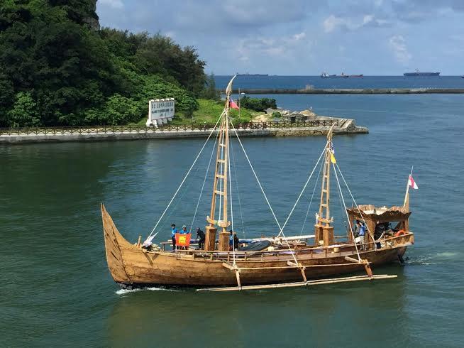Kapal Spirit of Majapahit Tiba di Taiwan