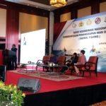 Menko Maritim dan Sumber Daya Rizal Ramli memberikan keynote speech nya pada saat menghadiri Rakornas Pemberantasan Penangkapan Ikan secara Ilegal Fishing, Jakarta 30 Juni 2016..