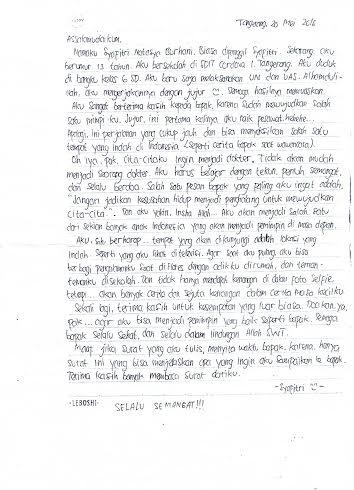 Surat dari Pengagum Cilik untuk Menko Rizal Ramli