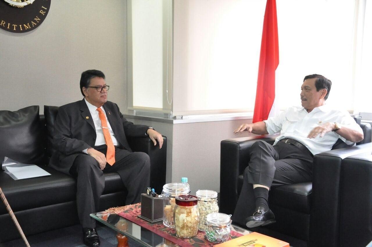 Menko Maritim menerima kunjungan Dubes Malaysia