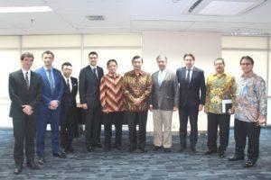 Menteri Koordinator Bidang Kemaritiman Luhut B. Pandjaitan menerima kunjungan Airbush Goup Indonesia di Jakarta 4 Agustus 2016