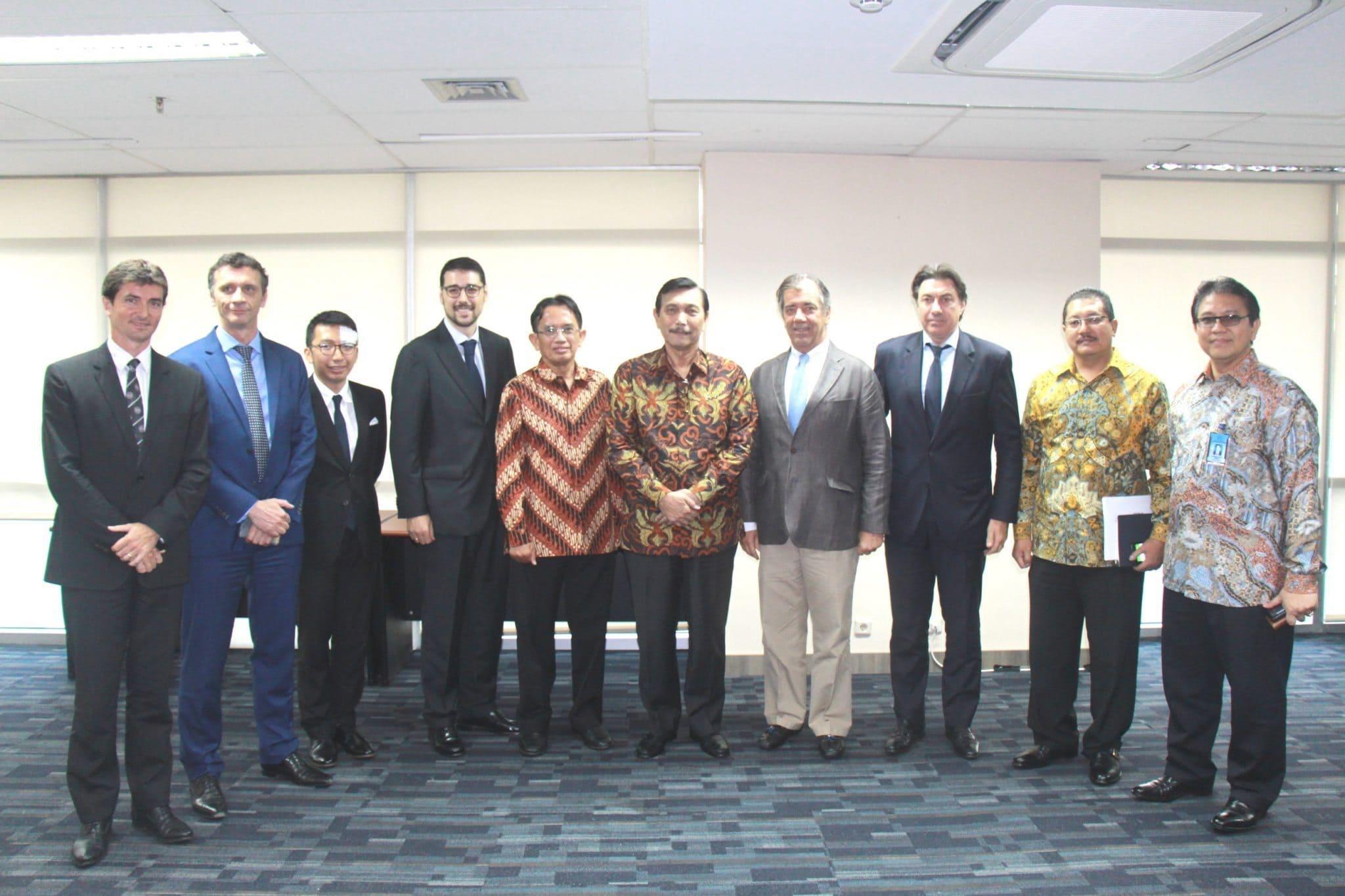 Menko Luhut B. Pandjaitan Menerima Kunjungan Airbus Group Indonesia