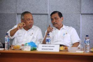 Menteri Koordinator Bidang Kemaritiman Luhut B Pandjaitan Pimpin Rapat Koordinasi dengan Menteri PUPR dan Menpan RB, Tobasa 20 Agustus 2016