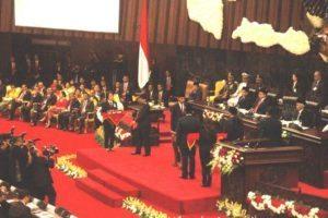Menteri Koordinator Bidang Kemaritiman Luhut B. Pandjaitan Menghadiri Pidato Kenegaraan Presiden RI dalam rangka HUT RI ke 71 Kemerdekaan RI Tahun 2016 dan menghadiri sidang bersama DPR RI dan DPD RI di Ruang Rapat Paripurna Gedung Nusantara MPR/DPR/DPD RI, Jakarta16 Agustus 2016