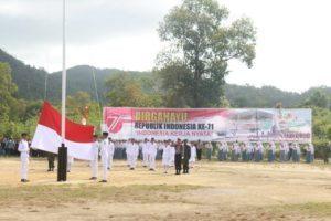 Kementerian Koordinator Bidang Kemaritiman yg di pimpin langsung oleh deputi IV Safri Burhanuddin menyelenggarakan Upacara peringatan Hut RI ke 71 yang di selenggarakan di Pulau Karimata, 17 Agustus 2016