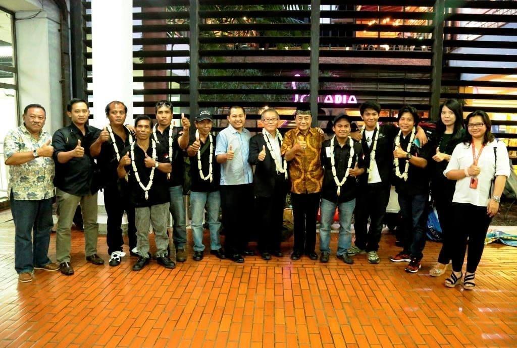Tim Ekspedisi Spirit Of Majapahit Kembali ke Indonesia