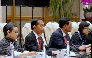 Pertemuan Bilateral Presiden Jokowi didampingi Menko Kemaritiman Luhut B. Pandjaitan dengan Delegasi Pemerintah RRT, Hangzhou, 2 September 2016