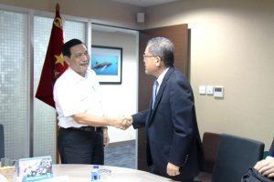 Menteri Koordinator Bidang Kemaritiman Luhut B. Pandjaitan Terima Presiden Director INPAX Mr. Shunichiro Sugaya di Kantor Kemenko Maritim, Jakarta 5 September 2016