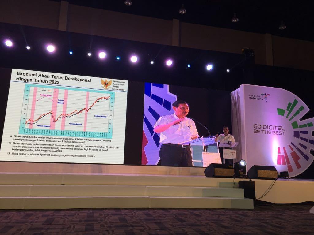 Menko Luhut Memberikan Keynote Speech Pada Acara Rakornas Kemenpar ke-III Tahun 2016