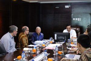 Menko Luhut saat meeting dengan Pak Erwin Jahja - Presdir PT. Binatek Energi Terbarukan di Kantor Maritim, Jakarta (15/11)