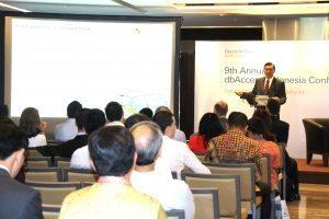 Menteri Koordinator Bidang Kemaritiman Luhut B Pandjaitan menjadi pembicara di 9th Annual dbAccess Indonesia Conference 2016 di Grand Hyaat (2/11) Jakarta