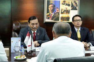 Courtesy Call Menko Maritim, Luhut B. Pandjaitan dengan Kasgab Jepang, Laksamana Katsuyoshi Kawano di Kantor Kemenko Maritim Jakarta (30/11)
