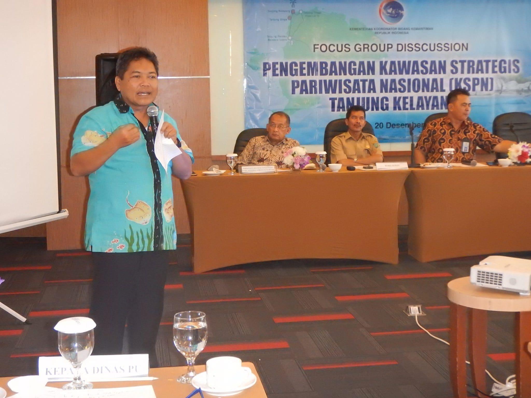 Deputi SDM, Iptek dan Budaya Maritim dalam FGD Dukungan Pengembangan KSPN Tanjung Kelayang (20/12)