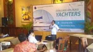 Pembukaan aplikasi YACHTERS yg di buka oleh asisten deputi jasa kemaritiman Bapak Okto Irianto, kementerian koordinator bidang kemaritiman di Batavia Marina Jakarta (1/12)