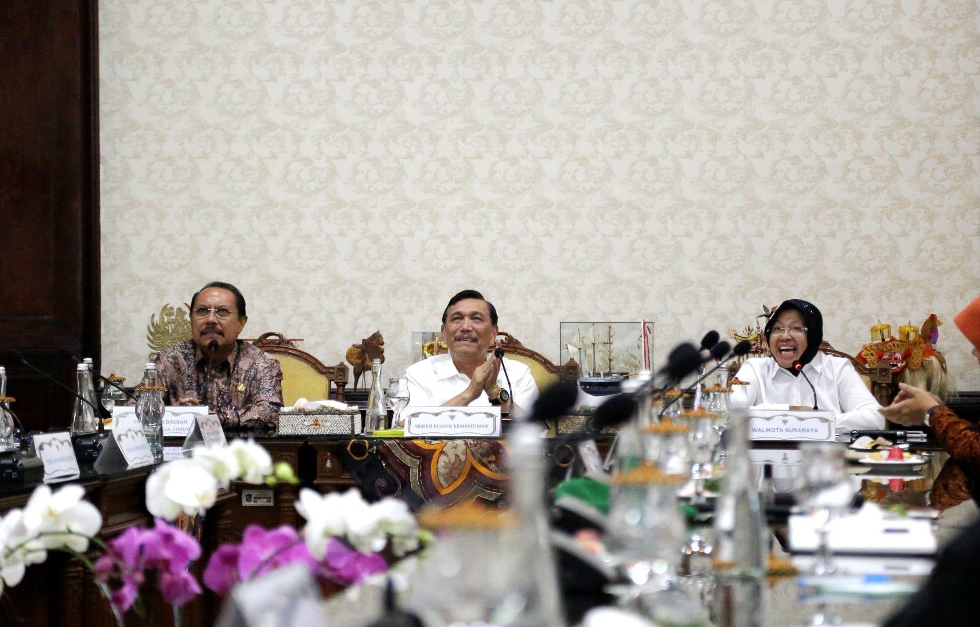 Rakor Percepatan Gerakan Budaya Bersih dan Senyum di Balai Kota Surabaya