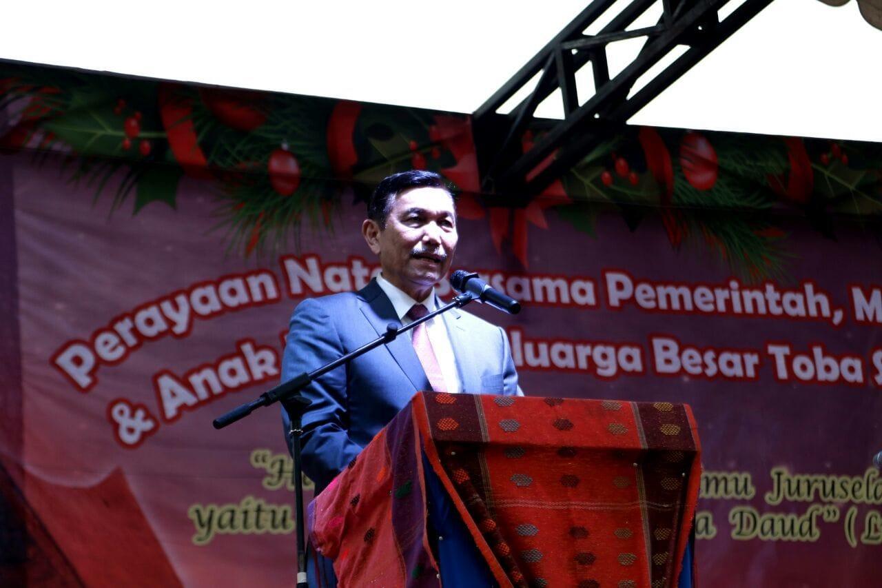 Sambutan Natal Menko maritim Luhut Pandjaitan, Balige (25/12)