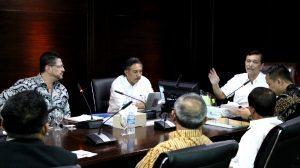 Menko Luhut B Pandjaitan meeting w/ tim world bank dan rektor udayana di Kantor Kemenko Bidang Kemaritiman. (11/1)