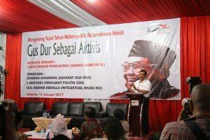 Menko Luhut B. Pandjaitan saat menghadiri dan menjadi Keynote Speech Peringatan Haul ke Tujuh Alm KH. Abdurrahman Wahid (11/1)