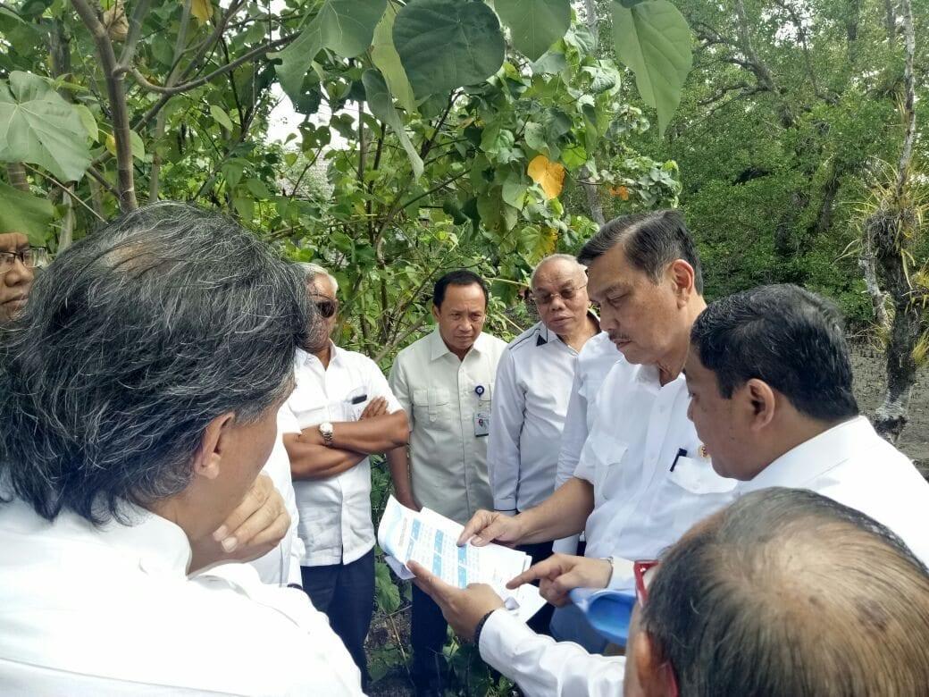 Menko Luhut Tinjau Lokasi Rencana Pengembangan Integrated Port Wai Tulehu
