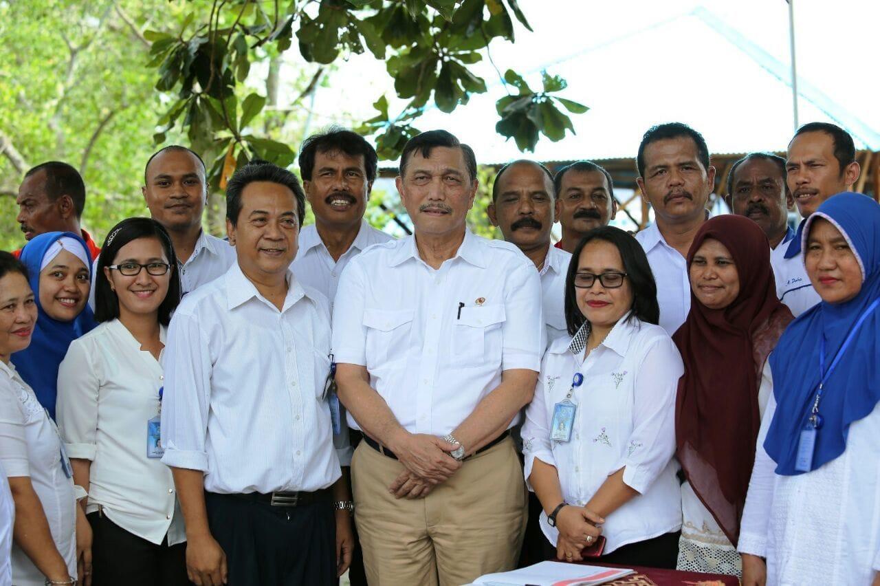 Menko Luhut Tinjau Balai Diklat Perikanan KKP di Ambon