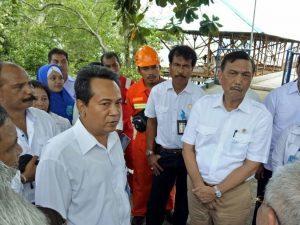 Menteri Koordinator Bidang Kemaritiman Luhut B Pandjaitan dalam kesempatannya juga mengunjungi Balai Diklat Perikanan KKP di Ambon (8/2)
