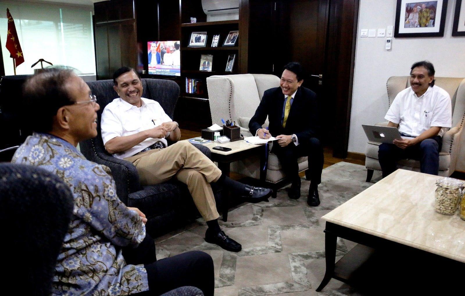 Menko Luhut Terima Dubes Jepang Mr. Tanizaki Yasuaki membahas Kereta Api Ekspres Jakarta – Surabaya