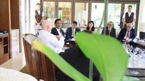 Menteri Koordinator Bidang Kemaritiman Luhut B Pandjaitan Hadiri Season General Meeting dengan United Nations General Asembly Peter Thomson Dalam Agenda World Ocean Summit di Presidential Sofitel Hotel Bali (23/2)