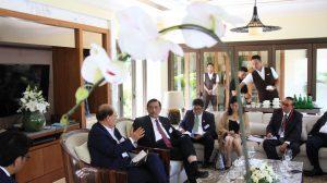 Menteri Koordinator Bidang Kemaritiman Luhut B Pandjaitan Hadiri Season General Meeting dengan International Maritime Organization Kitack Lim dalam agenda World Ocean Summit di Presidential Sofitel Hotel Bali (23/2)