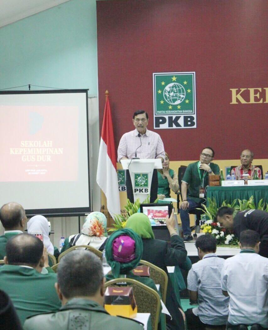 Menko Maritim Luhut B. Pandjaitan Menjadi Keynote Speaker Sekolah Kepemimpinan Gus Dur di Graha Gus Dur