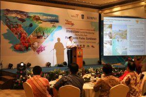 Menko Luhut B Pandjaitan Memberikan Paparan pada acara Festival Pesona Tambora di Hotel Dharmawangsa, Jakarta. (23/01)