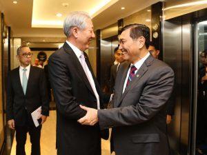 Menko Luhut Lunch Meeting bersama Mr. Teo Chee Hean (Deputi Perdana Menteri Singapura) beserta staf, di Jakarta (06/03)