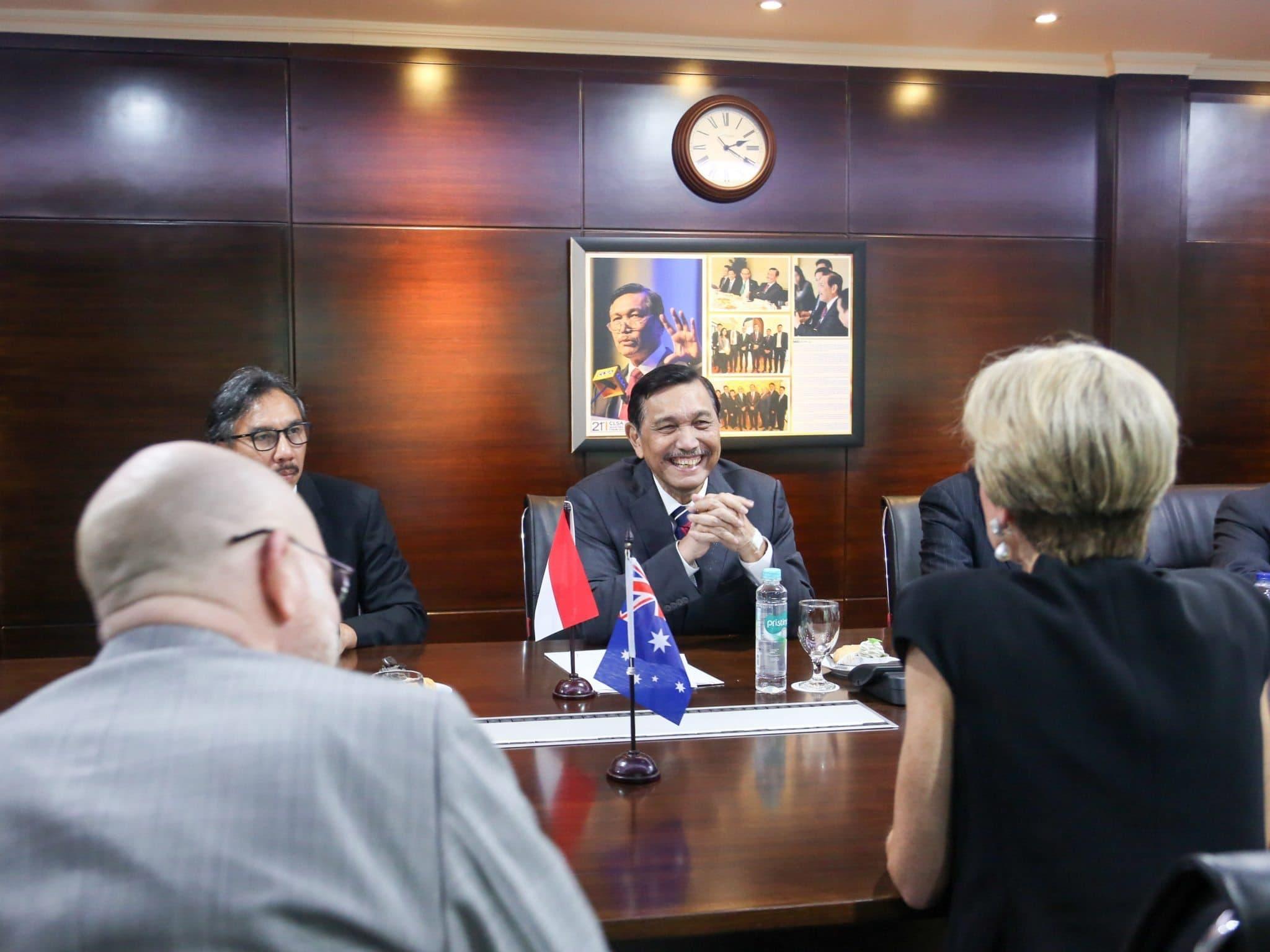 Menko Luhut menerima Menteri Luar Negeri Australia Ms. Julie Bishop