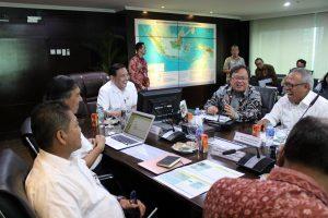 Menko Luhut B. Pandjaitan pimpin Rapat Koordinasi tentang NCICD, di Kantor Maritim, Jakarta (9/3)