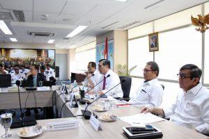 Menko Luhut B. Pandjaitan Pimpin Rakor Persiapan IMF-World Bank Annual Meeting di Bali Tahun 2018 (13/03)