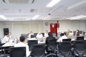 Menko Luhut B. Pandjaitan Memimpin Rapat Internal Staff di Kantor Maritim. (27/03)