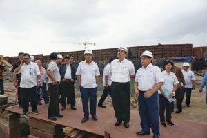 Kunjungan Menko Maritim Luhut B. Pandjaitan di DPS, Surabaya (20/2)