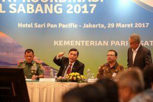 Menteri Koordinator Bidang Kemaritiman Luhut B Pandjaitan Pimpin Rapat Koordinasi Sail Sabang 2017, (29/3)
