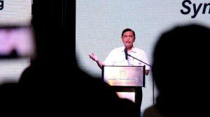 Menteri Koordinator Bidang Kemaritiman Luhut B Pandjaitan hadiri sekaligus memberikan keynote speaker di acara Rakornas Kepariwisataan I Tahun 2017 di Hotel Borobudur Jakarta (30/3)