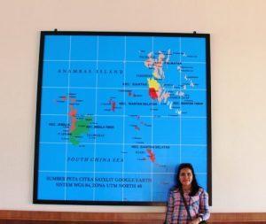 Peta Kabupaten Kepulauan Anambas, Bandara Letung, (05/03/2017)